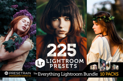 Everything Lightroom Bundle by Presetrain - 10 Collections with 225 Presets