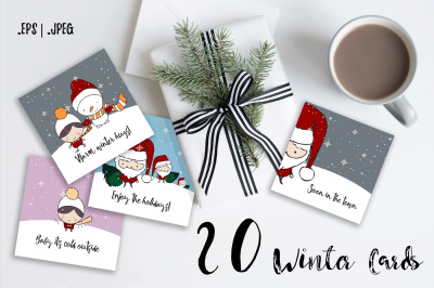 Cute Winter Cards - 1