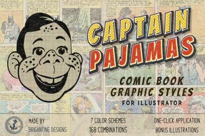 Captain Pajamas - Comic Illustrator Styles