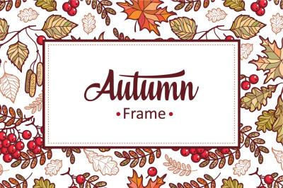 Autumn Leaves. Fall. 12 framework. 2 sets of isolated elements.