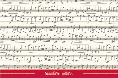 Music note. Seamless pattern. Sheet music