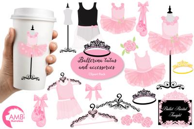 Ballerina Tutus clipart, graphics, illustration AMB-1308