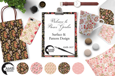 Roses Garden surface and pattern design AMB-1837