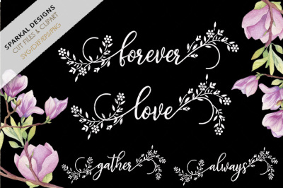 Floral Word Art, Wedding Endearments