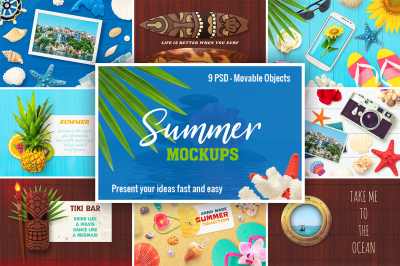 9 Summer Mockups PSD
