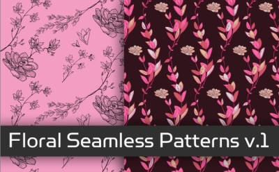 Floral Seamless Patterns v.1