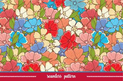 Floral pattern. Flower seamless print