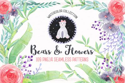 Watercolor Birthday & Cute Bears