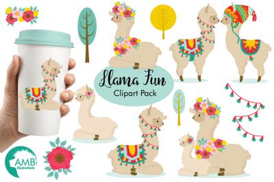 Llama Fun Clipart, Graphics, Illustrations AMB-1985