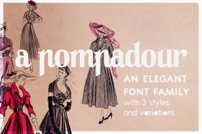 A Pompadour | a font family