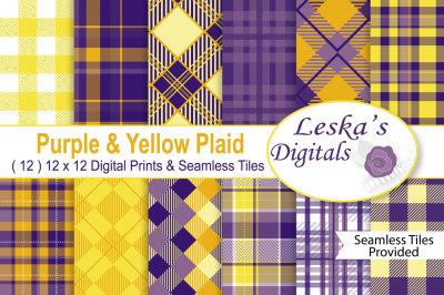Yellow & Purple Plaids