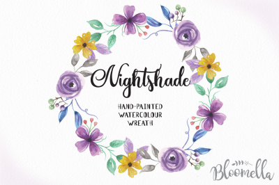 Hand Painted Watercolour Clip Art High Quality Floral Wreath