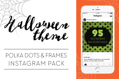 Halloween Theme Dots and Frames Instagram Pack