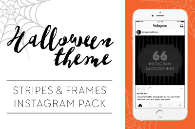 Halloween Theme Stripes and Frames Instagram Pack