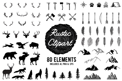 Rustic Clipart Designs - AI PNG EPS