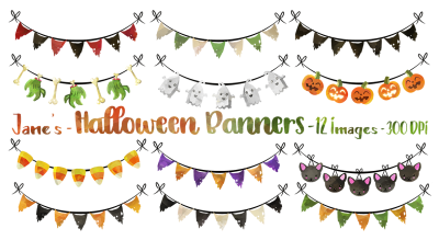 Halloween Bunting Clipart