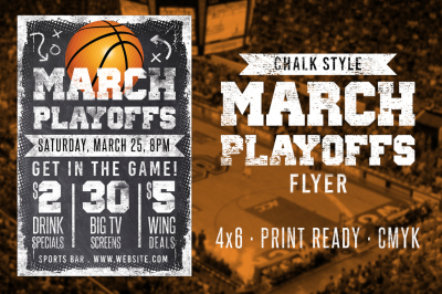 Chalk March Basketball Flyer