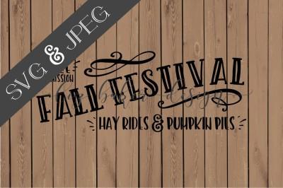 Fall Festival Sign Cut File SVG JPEG