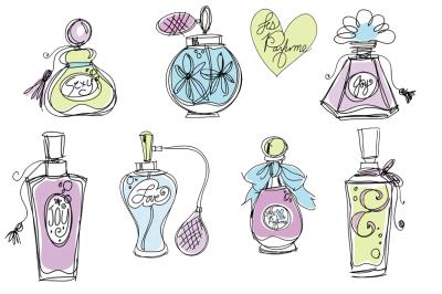 Perfume Bottles Clipart