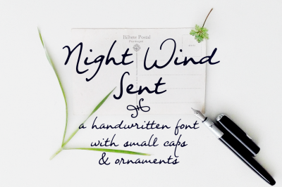 Night Wind Sent | handwritten font