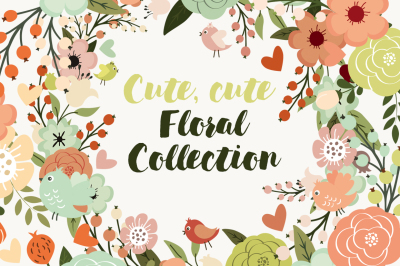 Cute, cute floral collection