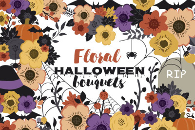 Floral Halloween bouquets