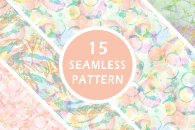 Watercolor seamless pattern collection