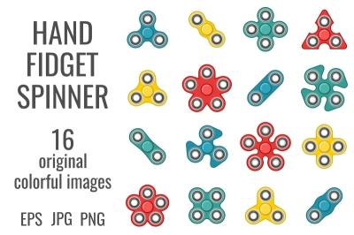 Hand fidget spinner colorful set