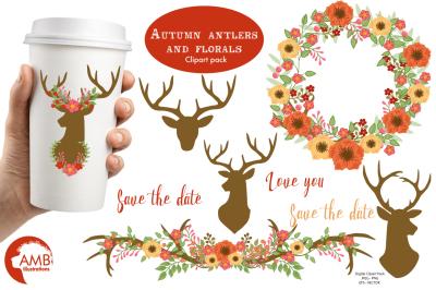 Autumn Antlers graphic, illustration, clipart  AMB-1488