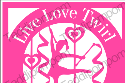 Live Love Twirl Paper Cut SVG
