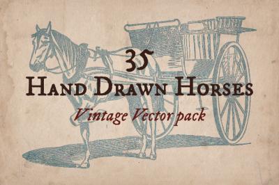 35 Hand Drawn Horses