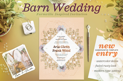 Faded Wedding at the Barn Card III