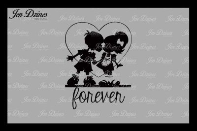 Forever Kiss SVG DXF EPS PNG