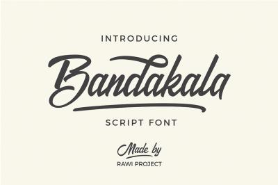 Bandakala Script font