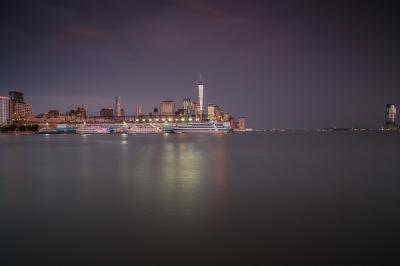 Manhattan view during sunset
