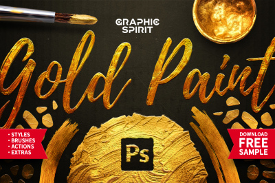 Gold Paint Effect For Photoshop