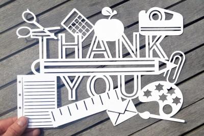 Thank you teacher SVG / DXF / EPS files