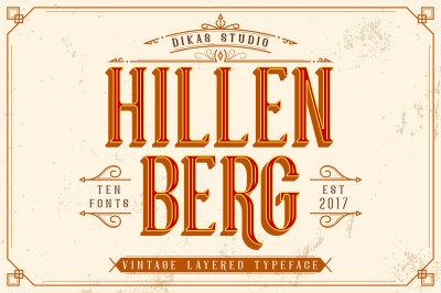 Hillenberg - Vintage Layered Typeface