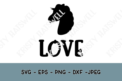 Horse Love Silhouette SVG