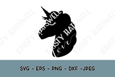 Unicorn Love Silhouette SVG