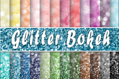 Glitter Bokeh Textures Digital Paper