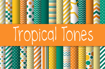Tropical Tones Digital Paper