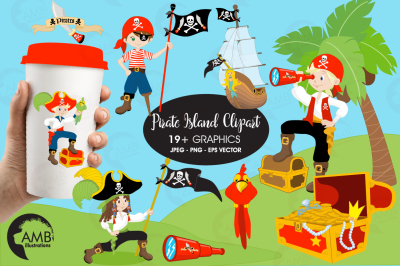 Pirate Band YO-HO-HO clipart, graphics, illustrations AMB-173