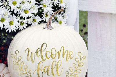 Welcome Fall Hand Lettered SVG