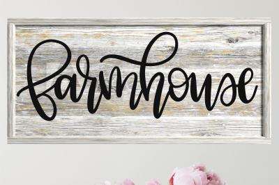 Farmhouse - Hand Lettered SVG