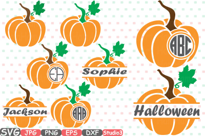 Pumpkin Split & Circle Silhouette SVG Cutting Files Digital Clip Art Graphic Studio3 cricut cuttable Die Cut Machines Thankgiving 694S