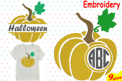Pumpkin Split & Circle Designs for Embroidery Machine Instant Download Commercial Use digital file 4x4 5x7 hoop icon symbol sign Strings 66b