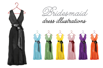 Bridesmaid Dress clipart