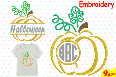 Pumpkin Split & Circle Designs for Embroidery Machine Instant Download Commercial Use digital file 4x4 5x7 hoop icon symbol sign Strings 68b