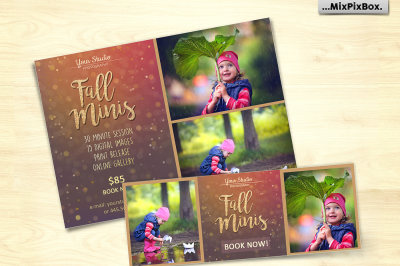 Fall Mini Session Photo Template v.2